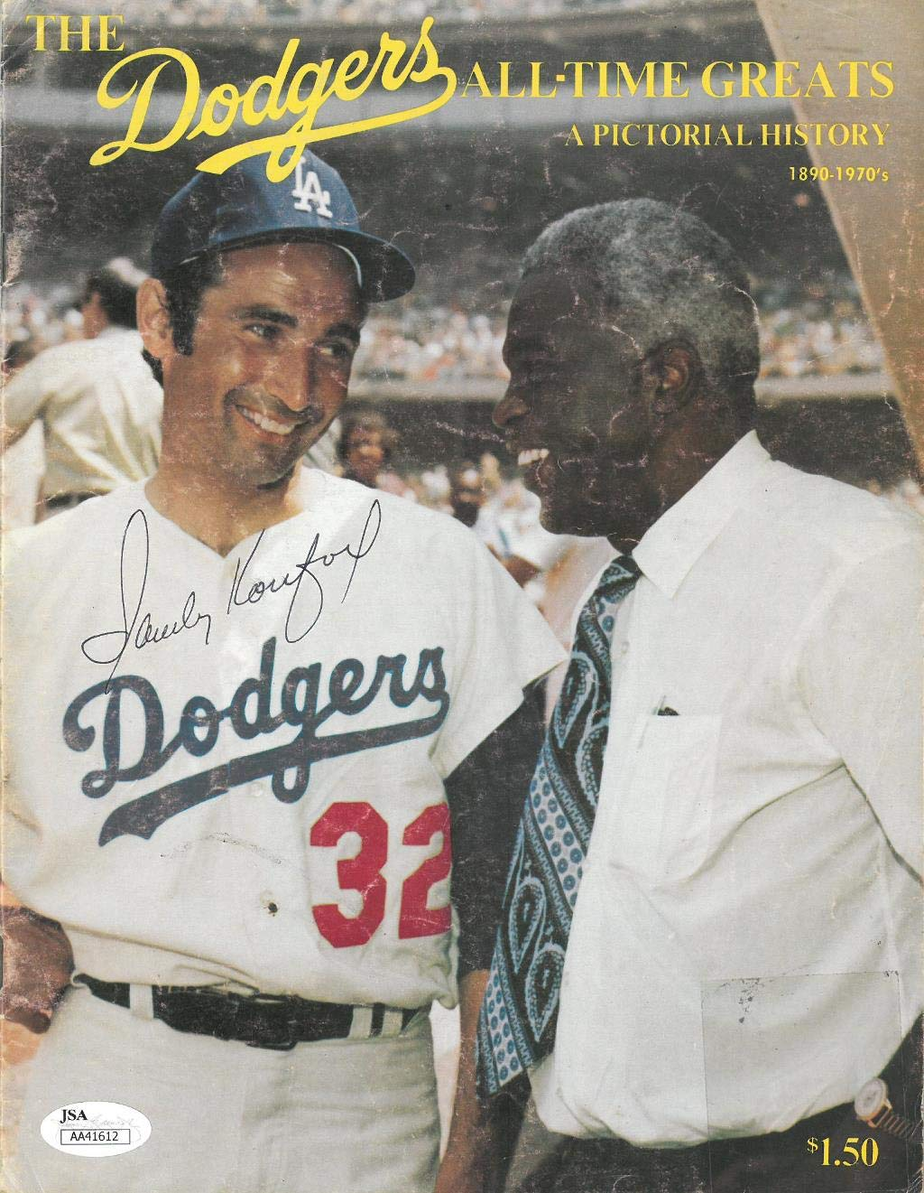 Sandy Koufax Signed Dodgers Authentic Autographed Magazine JSA #AA41605