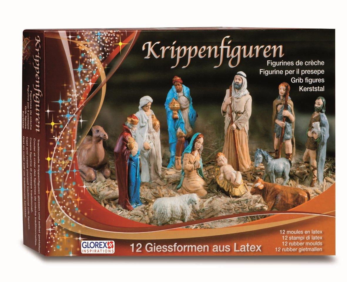 GLOREX 6 9603 90 látex figuras de belén de, multicolor, 31 x 22 x 6,5 cm: Amazon.es: Hogar