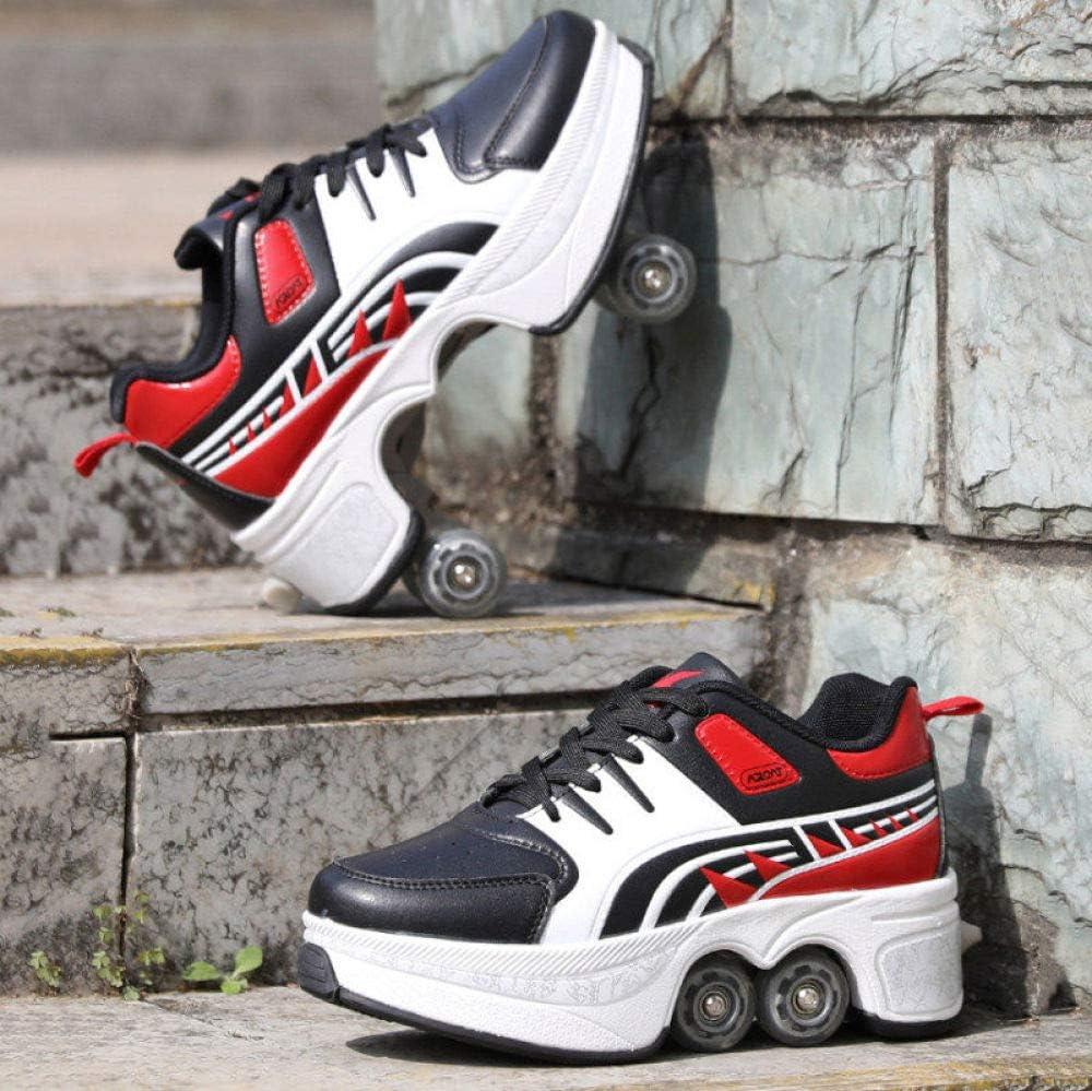 Zapatos Deportivos Unisex para Ni/ños Adultos Al Aire Libre Patines de Cuatro Ruedas Patines para Principiantes De Dise/ño Elegante Patines Paralelos Multiusos 2 En 1