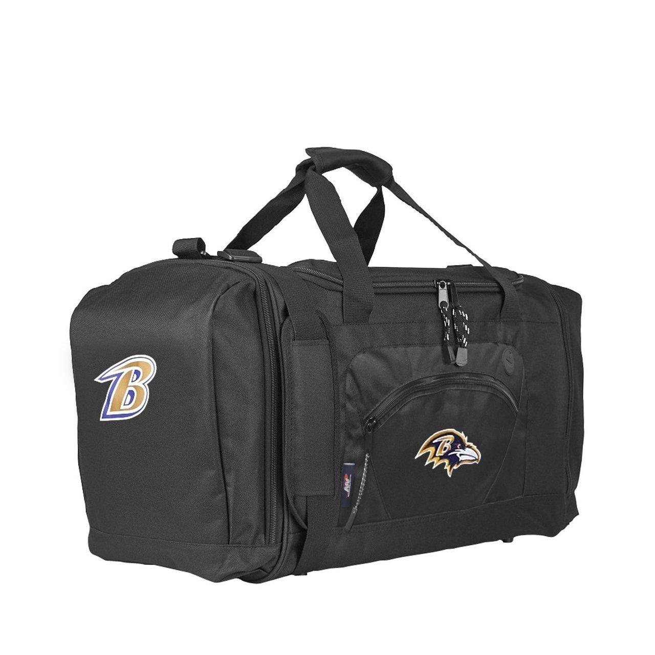 The Northwest Company Officially Licensed NFL Baltimore Ravens Unisex Roadblock Duffel Bag, Black