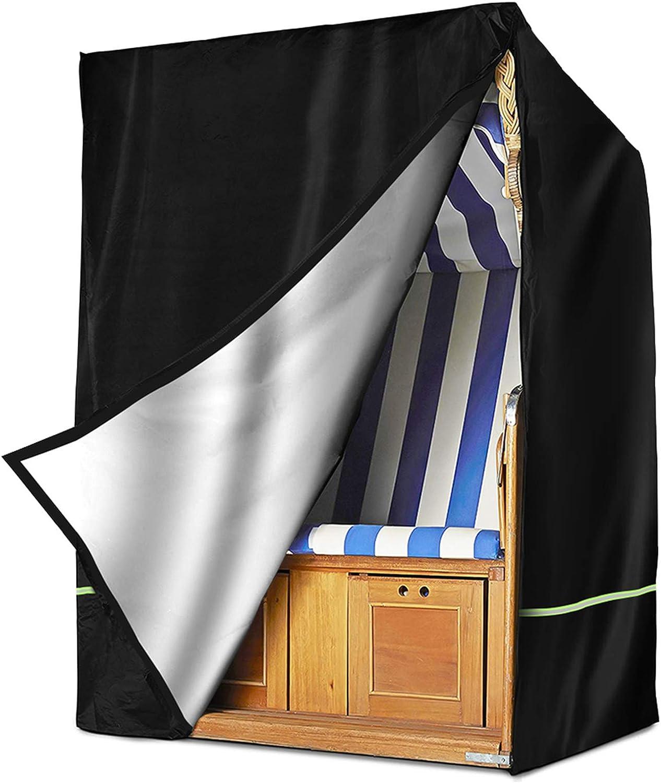 Strandkorb Schutzh/ülle Wint wasserdichte Schutzh/ülle mit Klettverschluss f/ür Strandkorb TEPSMIGO Strandkorbabdeckung