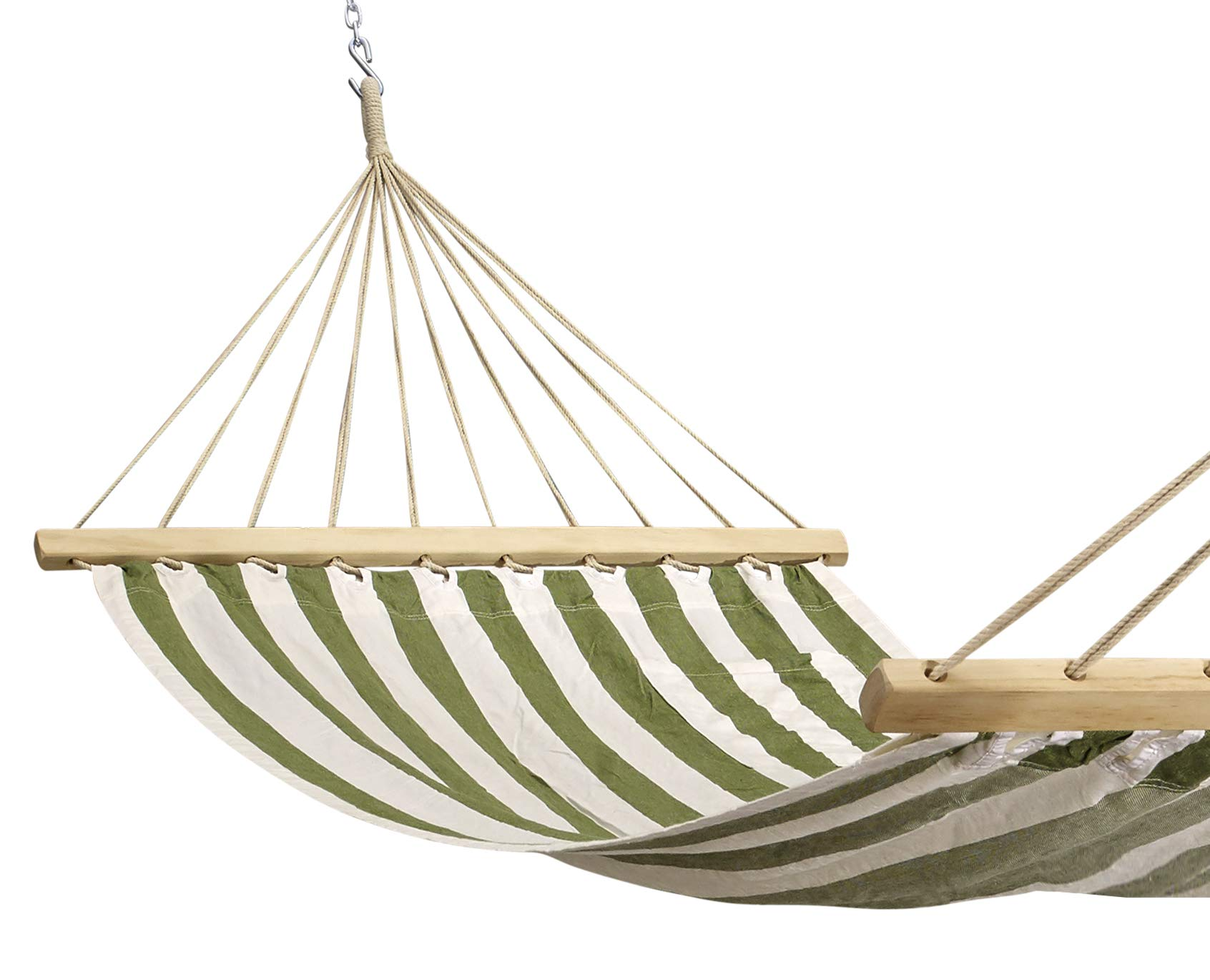 Hygge - Single Fabric Hammock with Stripes Made with 100% Cotton Comes with a Magazine Holder and Hardwood Spreader bar. Perfect for Your Garden and Patio! - Our hammock is made from 100% natural cotton, the hammock provides extreme comfort and the number of suspension contributes to the durability of this product. This hammock is yarn-dyed fabric. This hammock comes with a magazine/ iPad holder and a multi-purpose co-ordinated fabric bag that can be used as a bag-pack as well. Dimensions: Bed Width: 48 inches; Bed Length: 78 inches; Overall Length: 132 inches Maximum carry capacity is 450 pounds. - patio-furniture, patio, hammocks - 71lTHgSy87L -