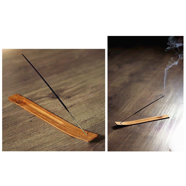 TrendBox 30pcs Handmade Plain Wood Wooden Incense Stick Holder Burner Ash Catcher Natural Design Buddhist by TrendBox (Image #2)