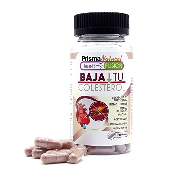 BAJA TU COLESTEROL - Potente y exclusivo reductor del colesterol gracias a la Levadura de Arroz roja pura con Coenzima Q10 - Baja y mantiene en niveles ...