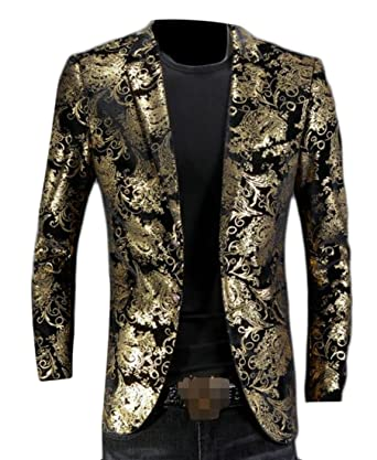Glitter single breasted blazer
