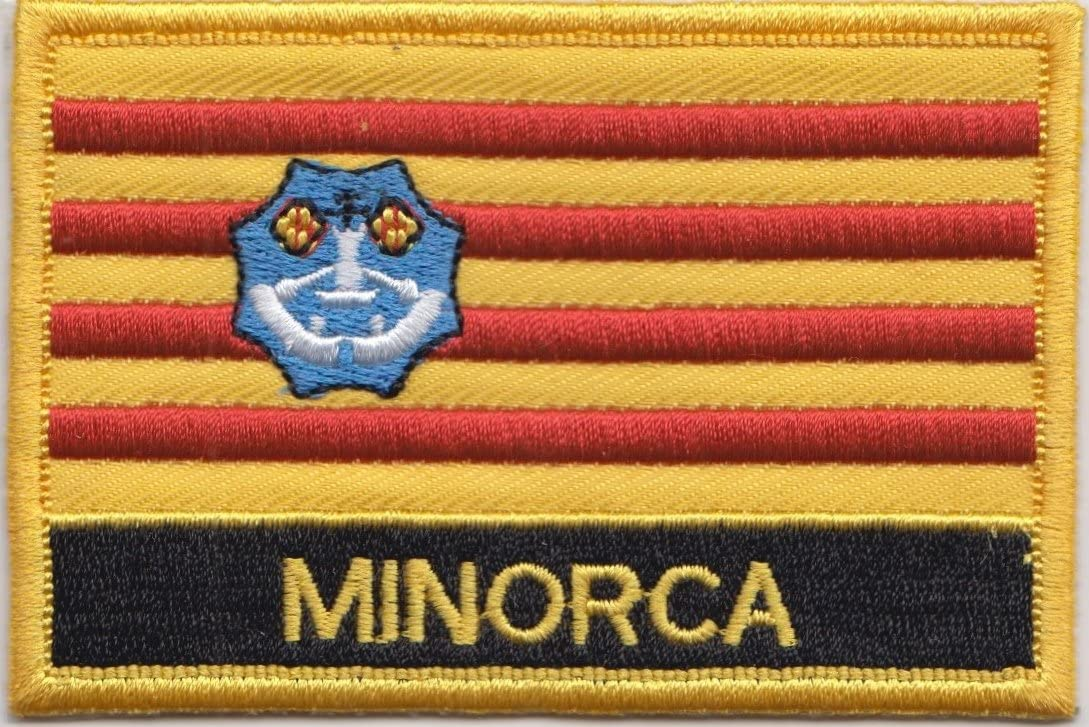 Menorca Islas Baleares España Bandera Bordada rectangular parche Badge: Amazon.es: Jardín