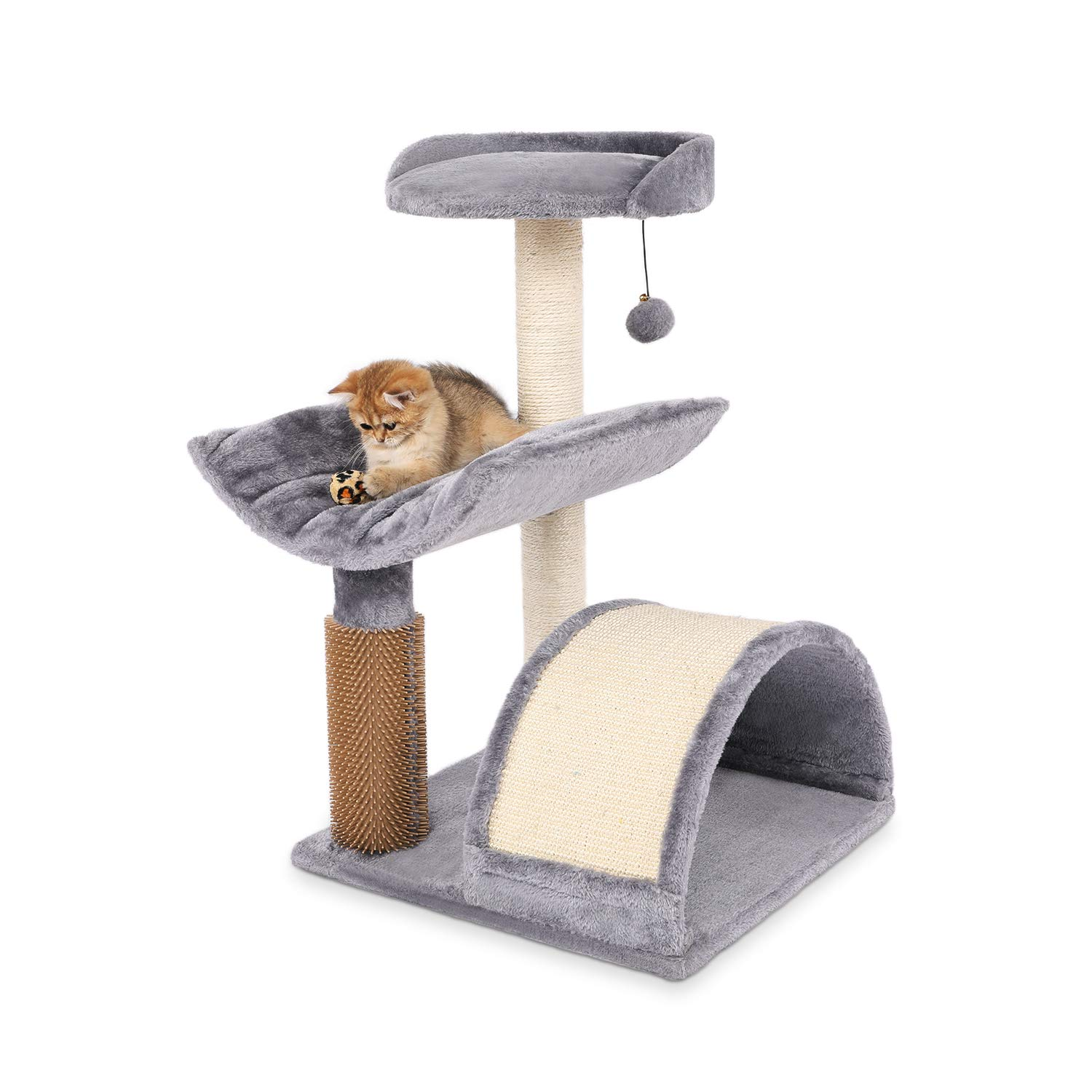 """LAZY BUDDY 28"""" Height Cat Tree House Condo, Cat Activity Tower with Scratching Post and Board, Space for Relieving Cat's Itching for Kittens, Cats, and Other Pets"""
