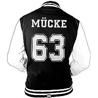 Hombre Chaqueta College Mücke Amigo Movie Star Película, 63 Chaqueta Béisbol