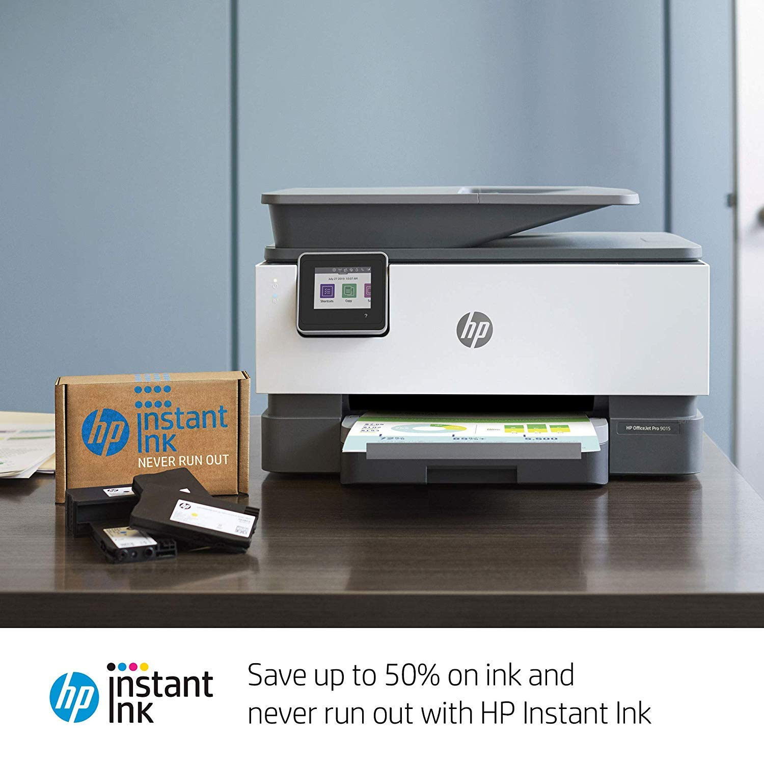 HP OfficeJet Pro 9015 All-in-One Wireless Printer, with Smart Tasks for Smart Office Productivity & Never Run Out of Ink with HP Instant Ink (1KR42A) by HP (Image #7)