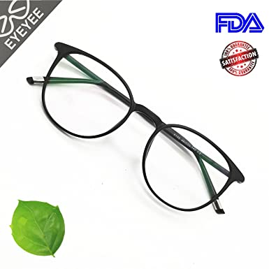 1be0681dd7b Reading Glasses Round Computer Readers for Women Men Eyeglasses Frames for  Prescription Lens (A.