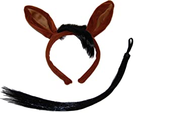Mouse Ears And Tail Set Light Brown Faux Fur Animal Fancy Dress Mouse Costume