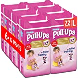 Huggies Pull-Ups Girls Day Time Pants Convenience Pack, Large - 6 Packs (12 Pants Per Pack, 72 Pants Total)
