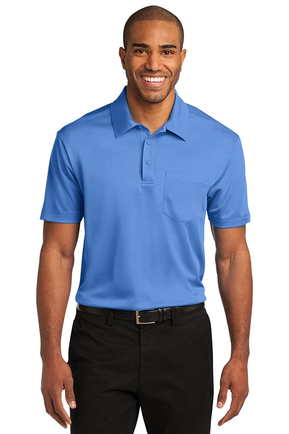 Port Authority Mens Silk Touch Performance Pocket Polo