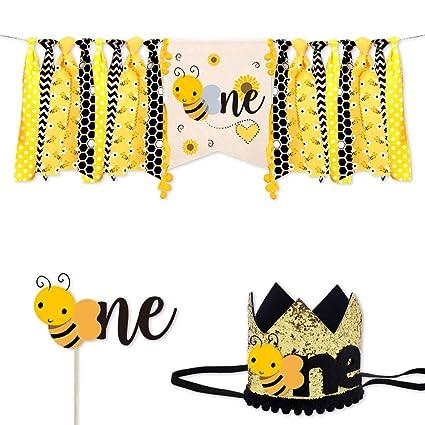 Amazon.com: Titiyogo Bumble Bee decoraciones de cumpleaños ...