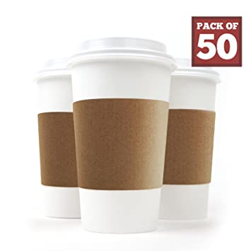 Paper Coffee Cups With Coffee