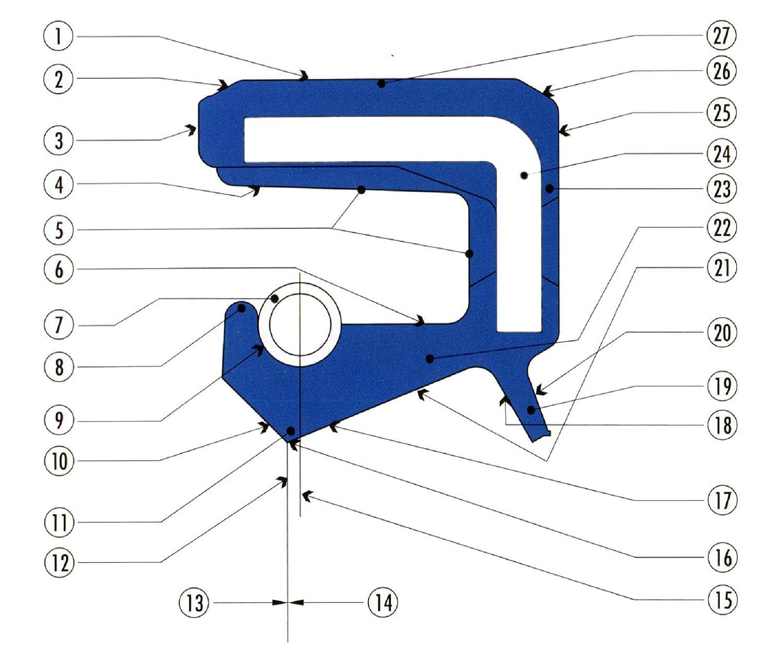 Simmerring Dichtungsring TC 27x43x9 NBR