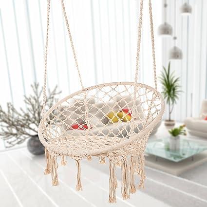 Amazon Com Bormart Hammock Chair Macrame Swing Hanging Lounge Mesh