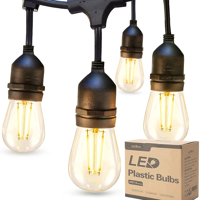addlon LED Outdoor String Lights 48FT