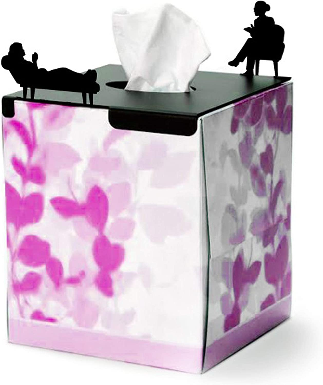 Tissue Box Cover Square for Tissues Cube Box In Her Treatment - Tissue Holder for Psychologist Gifts, Thank You Gifts For Women Therapist Office Decor, Private Practice & Office Decoration
