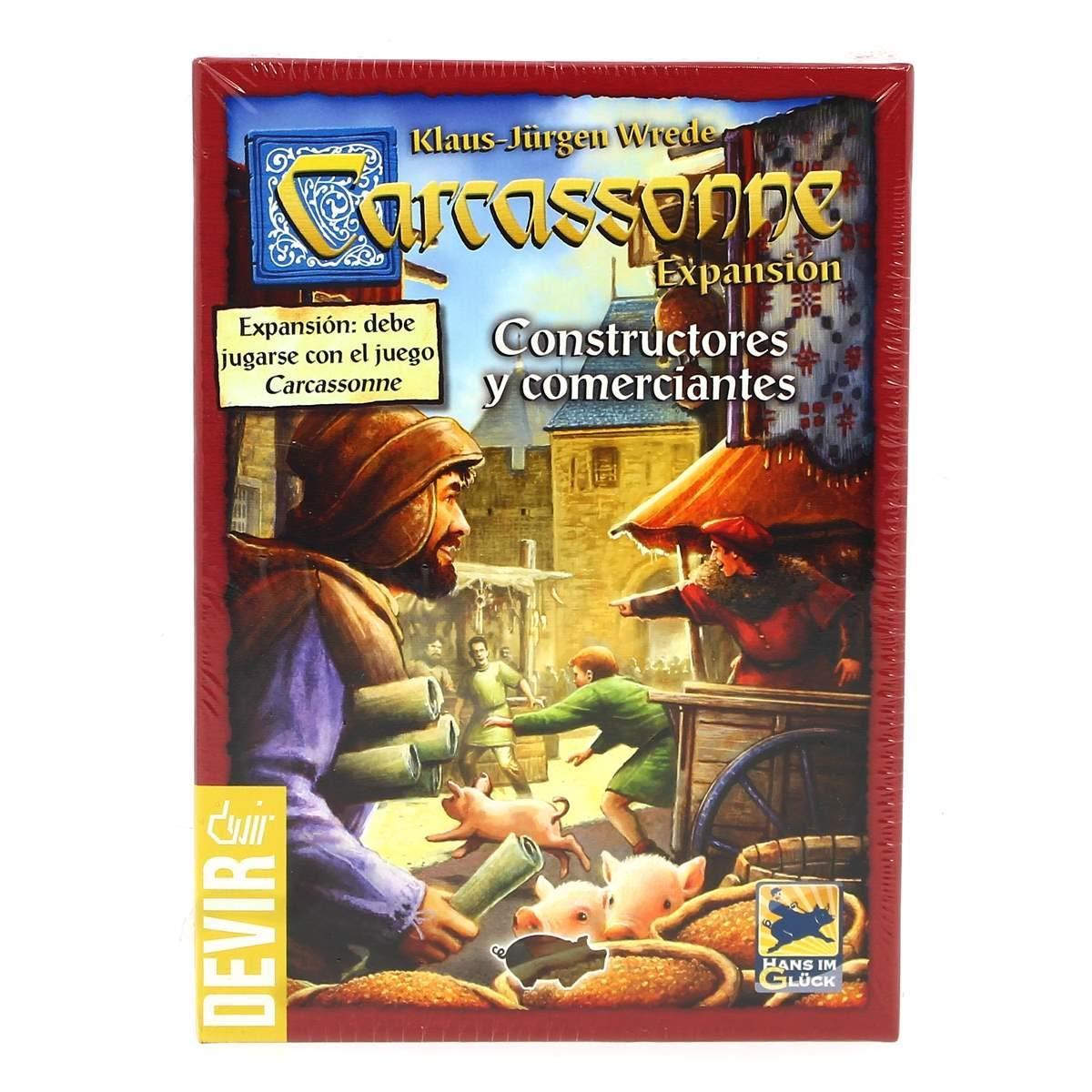 Devir Juego Carcassonne Constructores y Comerciantes: Amazon.es ...