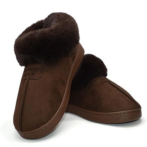 Botas De Piel Sintética para Mujer Botines Acolchados De Algodón Acolchado De Felpa Esponjosa Interior Exterior: Amazon.es: Zapatos y complementos