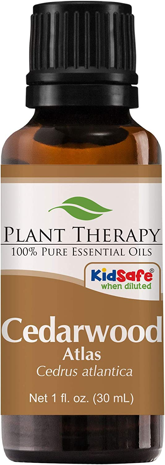 Plant Therapy Cedarwood Atlas Essential Oil 30 mL (1 oz) 100% Pure, Undiluted, Therapeutic Grade