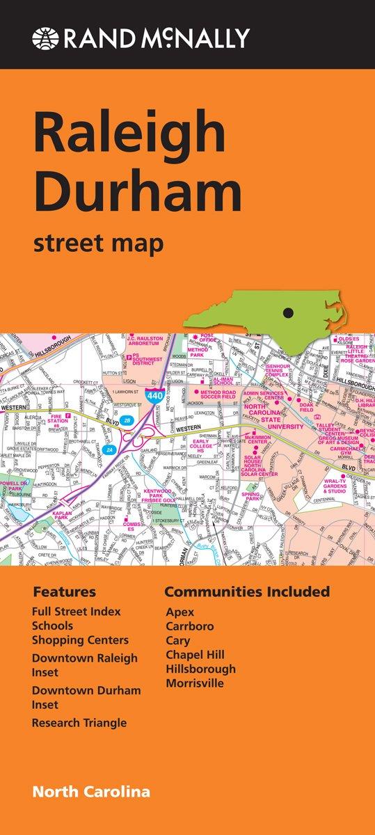 Rand McNally Raleigh Durham North Carolina Street Map Rand McNally