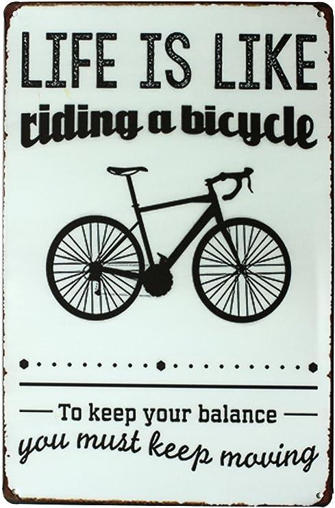2 X Ride My Bicycle Bike Funny Tin Sign Set Bar Garage Wall Decor Retro Metal