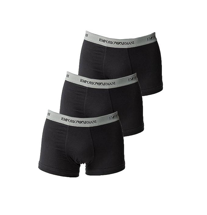 Emporio Armani Bóxer Paquete De 3 Pantalones Hombre Liso Algodón - Negro - Negro, 4