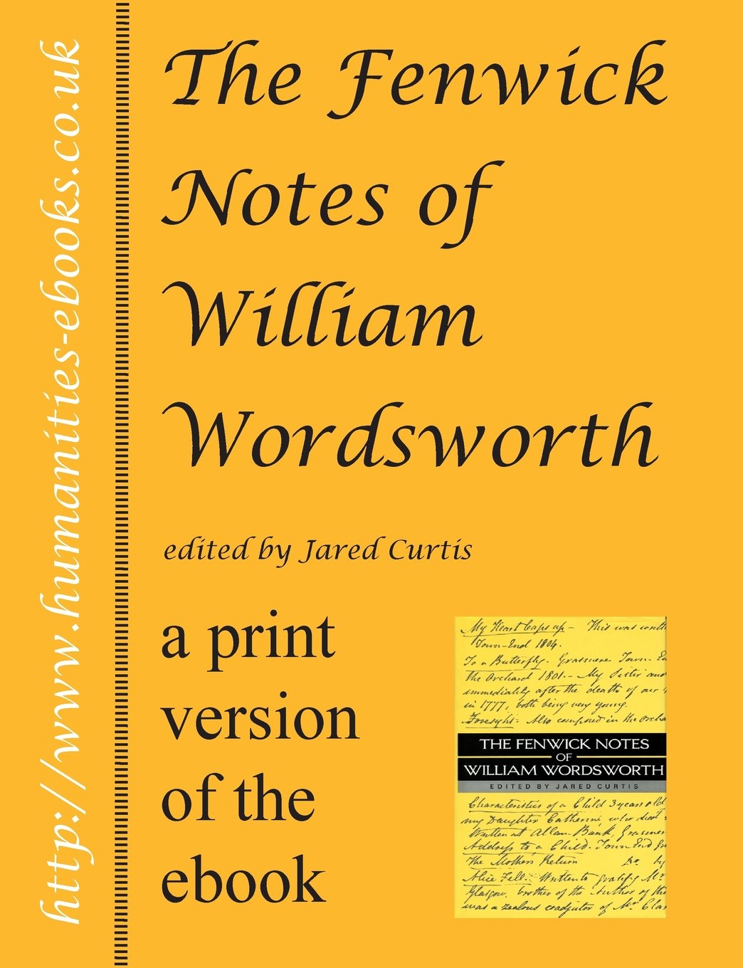 The Fenwick Notes Of William Wordsworth: Amazon: Jared Curtis:  9781847600752: Books