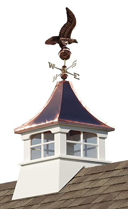 Amazoncom Accentua Charleston Cupola With Eagle Weathervane 24 In