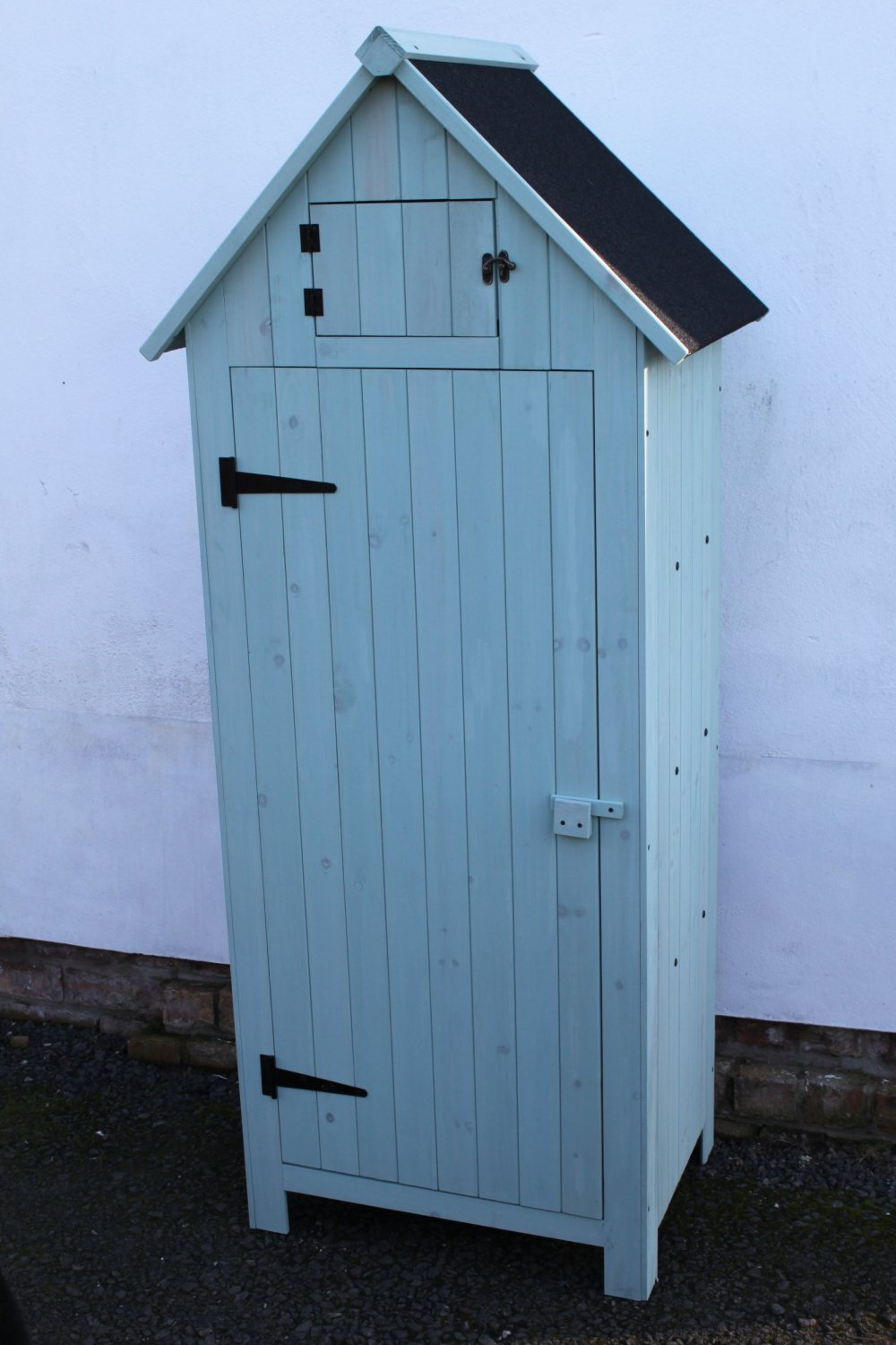 Outdoor Brighton Garden Wooden Storage Cabinet or Tool Shed In Blue/Green Garden Market Place