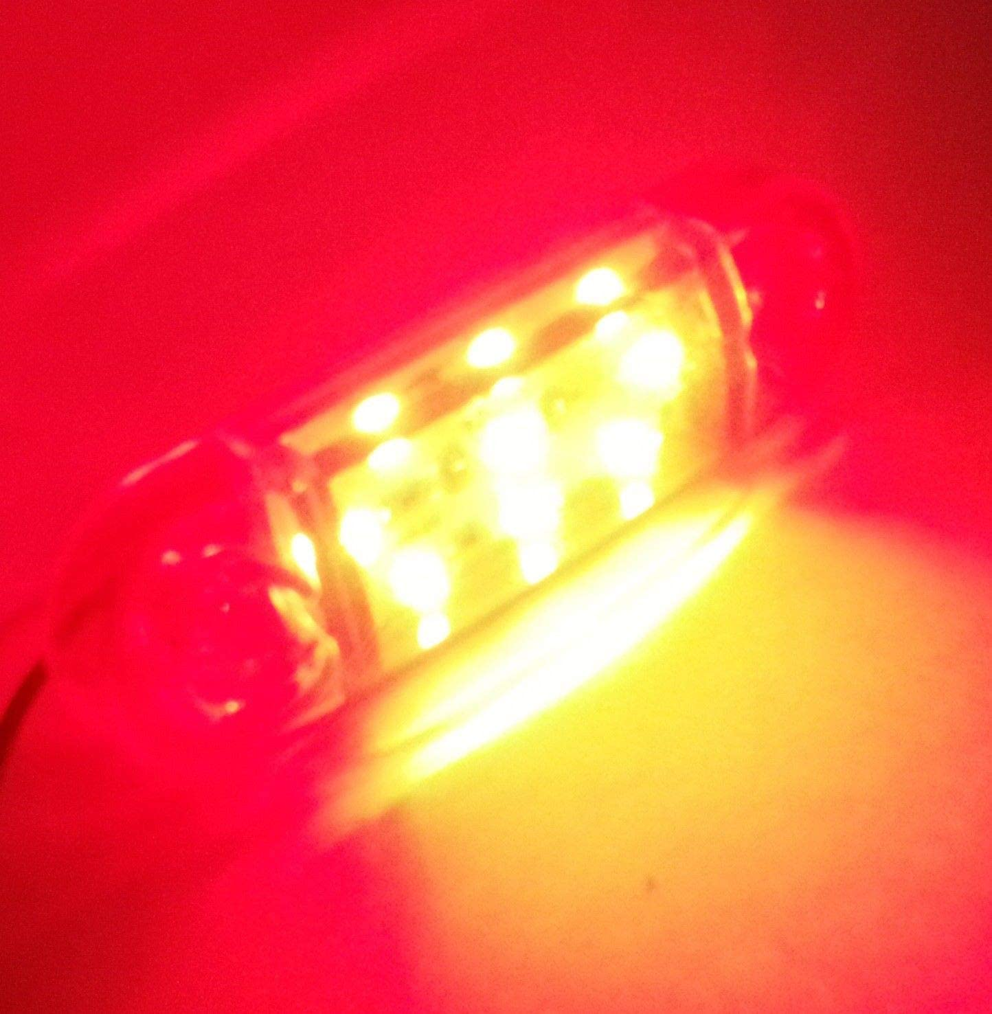 flexzon 4x 12V LED Red Rear Tail Side Marker Lights Trailer Truck Lorry Van Bus