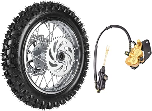 TDPRO 60//100-14 Front Tire Disc Brake Rim With 12mm Bearing Set for Pit Pro Dirt Bike