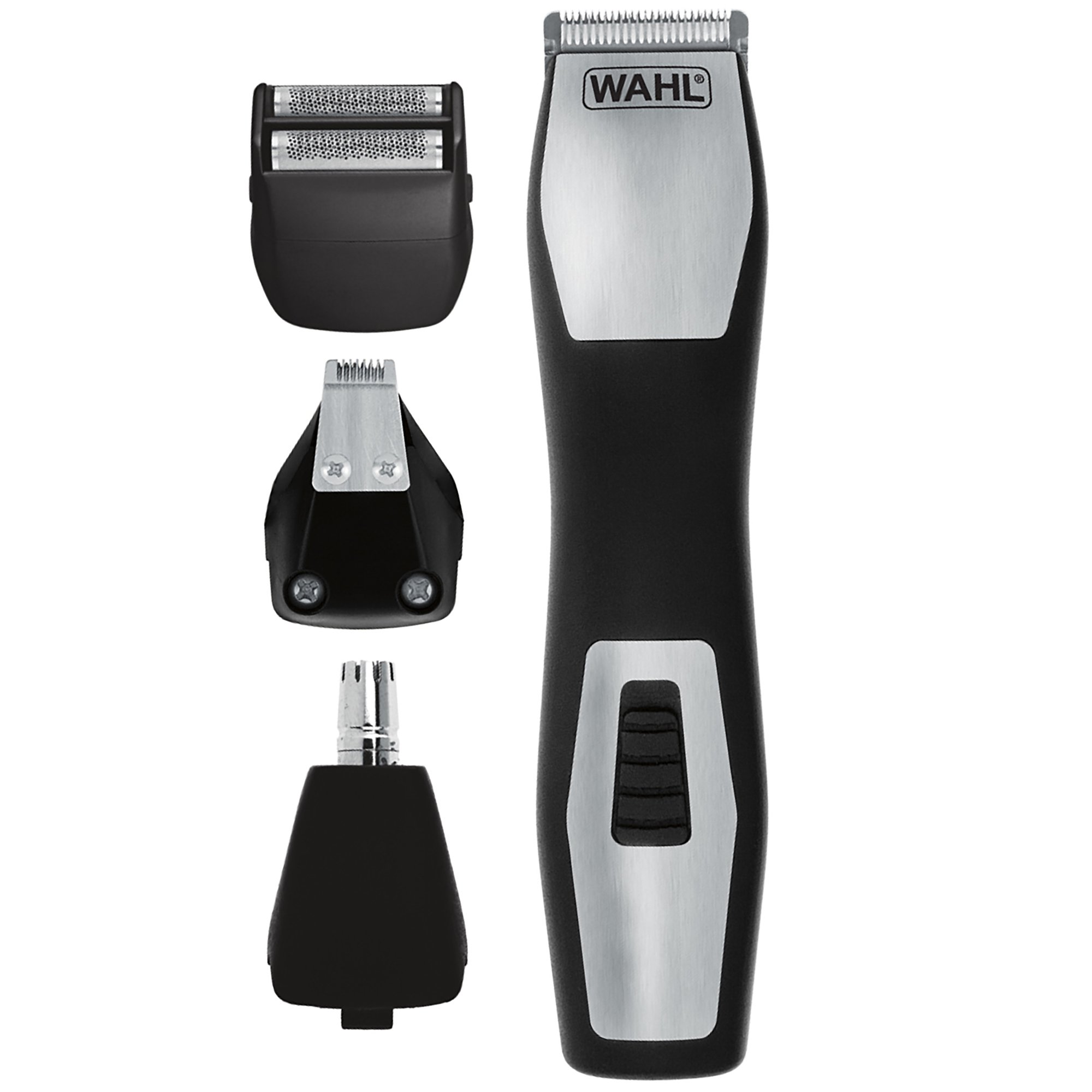 Wahl 9855-300 Groomsman Pro All-in-One Rechargeable Grooming Kit, Black/Silver