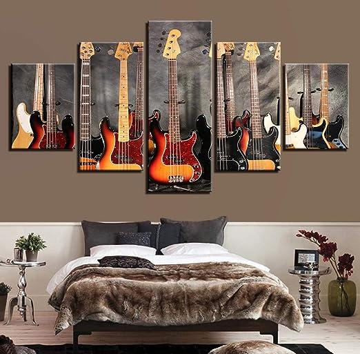 Instrumento de guitarra para pintar con chorro de tinta, 5 paneles ...