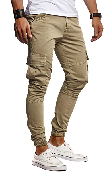 LEIF NELSON Hombre Jeans Jeans Stretch Chino Chinos de Carga ...