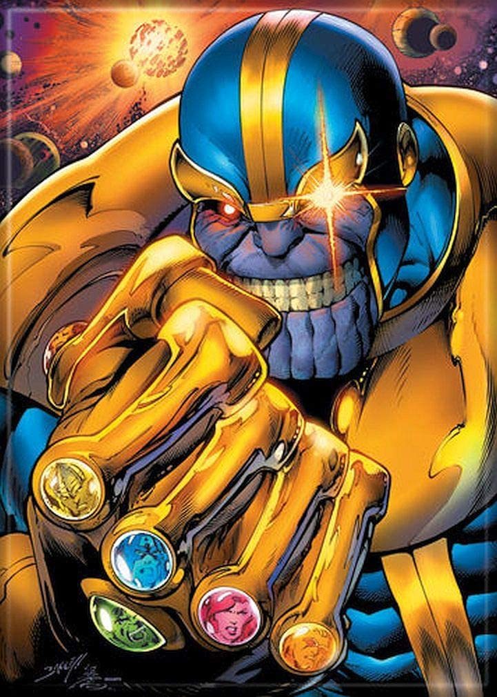 "Ata-Boy Marvel Comics Thanos Infinity Guantlet 2.5"" x 3.5"" Magnet for Refrigerators and Lockers"