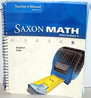 amazon com saxon math intermediate 5 teacher s manual volume 1 rh amazon com saxon math intermediate 5 teacher manual 2008 Saxon Math Intermediate 5 PDF