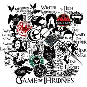 Amazoncom S 001 21pcs Game Of Thrones Stickers Winter Is Coming
