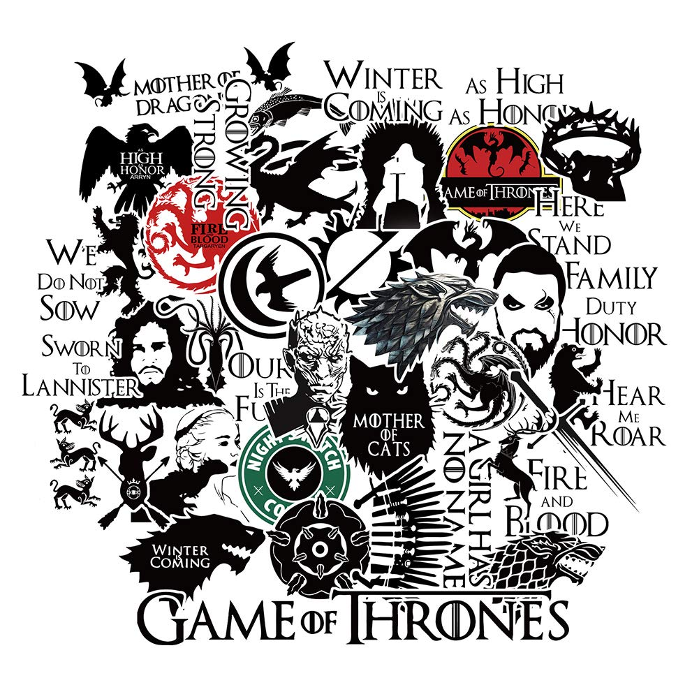 bbb2bdf6039f4 S-003 46pcs Game of Thrones Season 8 Stickers 2 Sheets/Pack MacBook Pro  Vinyl Stickers MacBook Air Stickers for Water Bottles Hydro Flask Stickers  ...