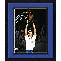 "$294 » Framed Dirk Nowitzki Dallas Mavericks Autographed 11"" x 14"" 2011 NBA Finals Spotlight Photograph - Autographed NBA…"
