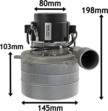 36V, 3 Stage Tangential Vacuum Motor (w