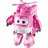 """Alpha Group Super Wings - Transforming Dizzy Toy Figure, Helicopter, Bot, 5"""" Scale, Pink"""