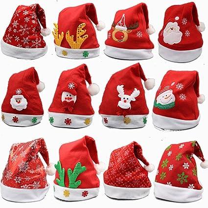 8 Unidades gorro de Navidad para niños y adultos 7029389b09a