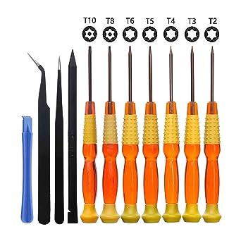 11 en 1 Juego de Destornillador Torx T2, T3,T4, T5, T6, T8, T10 ...