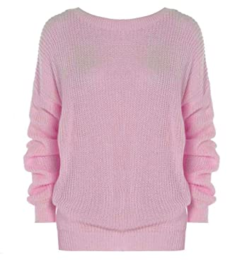 Oversized Baggy Long Sleeves Thick Knitted Jumper Ladies Plain Winter  Sweater 75e879b49