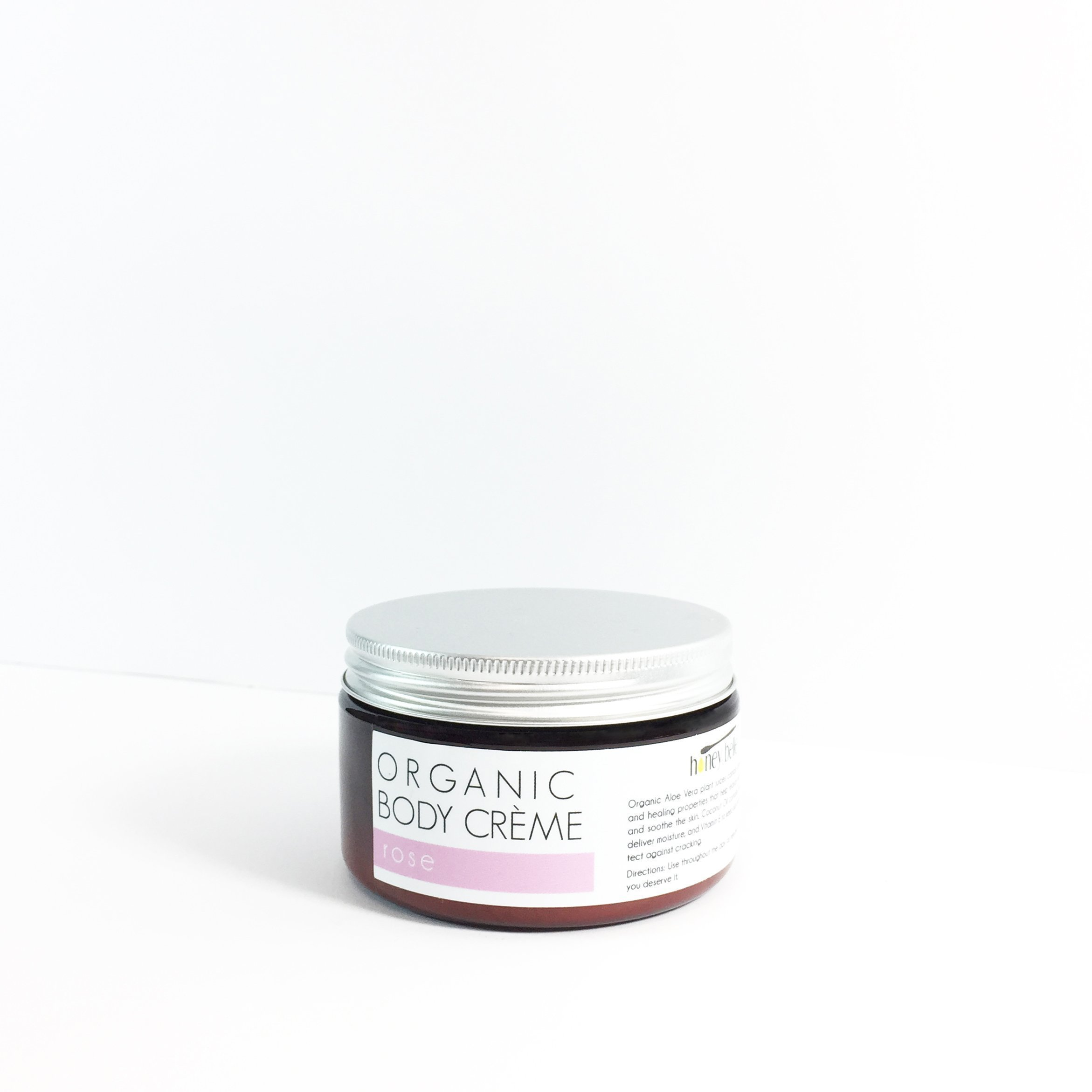 All Natural Rose Body Creme 4 oz - Luxurious and Moisturizing Body Creme Loaded With Skin-Softening Nutrients - For All Skin, Sensitive Treatment - By Honey Belle
