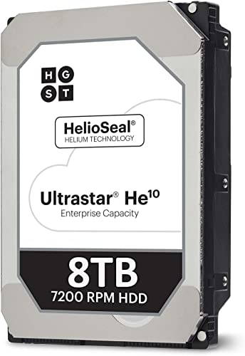 "HGST Ultrastar He10 | HUH721008AL4200 | 0F27406 | 8TB 7200 RPM 256MB Cache SAS 12Gb/s 3.5"" Inch 