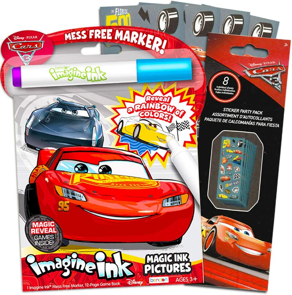 - Amazon.com: Disney Cars Imagine Ink Coloring Book Set For Toddlers